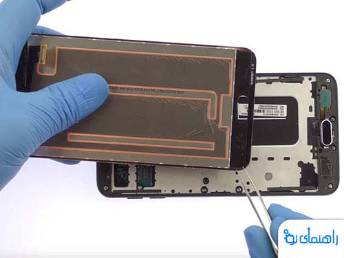 دوره آموزشی تعمیر موبایل سامسونگ گلکسی J7 [صفحه نمایش]